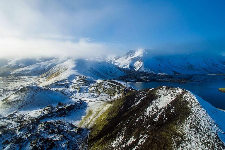 Iceland - Snowy Mountain Landscape