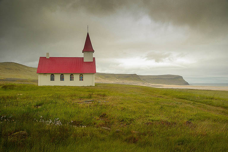 Iceland - Red Roofed Church