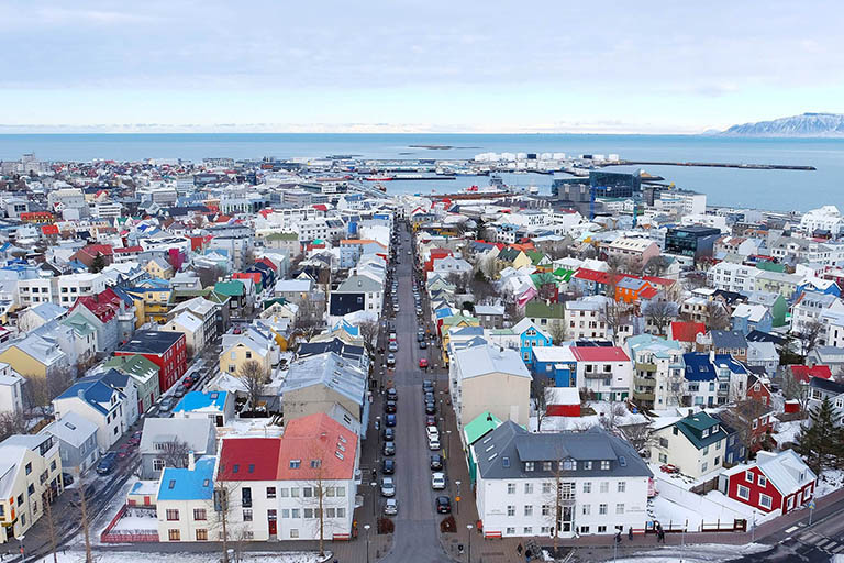 Iceland - Reykjavik - Hallgrimskirkja Church Viewpoint