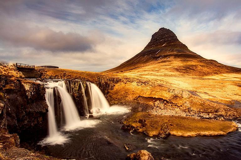 Iceland - Kirkjufell Mountain & Kirkjufellsfoss Waterfall