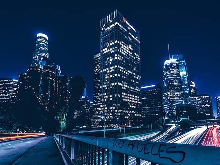 Western USA - Los Angeles City Skyline