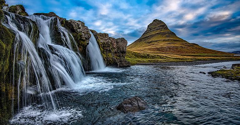 Iceland - Kirkjufellsfoss Waterfall