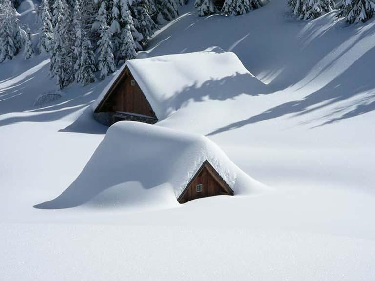 Lapland - Snowy Log Cabin
